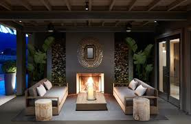the outdoor furniture and the planters are from restoration hardware the home sits on 1