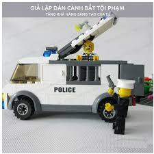 Full Bộ Lego Cảnh Sát Bắt Tội Phạm đồ chơi xếp hình cho bé.