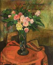 bouquet of flowers in a vase suzanne valadon oil painting