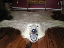 beautiful vintage polar bear rug real with head for were polar bears real bear rug genuine shooting