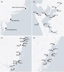 Barnegat Inlet Tide Chart 2016 A Location Of Us Atlantic Coast Estuaries Investigated In