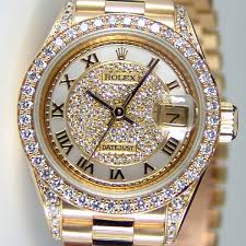 rolex lady datejust president yellow gold myraid pave diamond rolex lady datejust president yellow gold myraid pave diamond r dial lugs crown collection 69158 watch