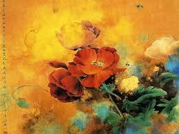 flowers and birds chinese gongbi paintings by zou chuan an