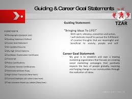 Career Goal Statement Delectable RED Portfolio R