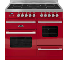 britannia delphi 100 xg electric induction range cooker gloss red stainless steel free delivery currys