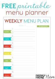 Free Weekly Meal Planner With Grocery List Editable Weekly Menu Planner Template Free Excel Helenamontana Info