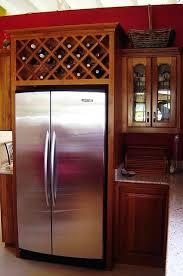 wine rack cabinet above fridge. Wine Rack Above Fridge Cabinet For I