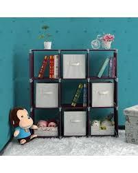office coffee cabinets. Ktaxon 3-Tier Storage Cube, DIY 9-Cube Closet Organizer Shelf Cabinet  Bookcase Office Coffee Cabinets