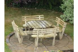 round 8 seat picnic bench garden table with seat backs 505 85505 85 per item