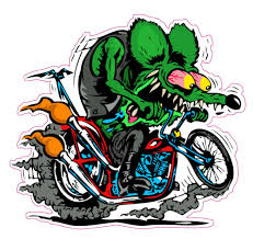 rat fink harley decal 5 x 5 free shipping ebay