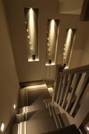stairwell lighting ideas. niches on stairs to add interest stairwell lighting ideas