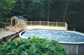 above ground pool with deck surround. Simple And Neat Home Exterior Decoration Using Inground Pool Decks : Minimalist Backyard Landscaping Above Ground With Deck Surround