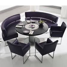 Statuette Of Intimate And Affectionate Dining Atmospheres With Curved Bench Dining