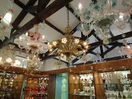 va murano chandeliers in the factory