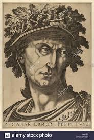 Twelve Caesars Drawings And Prints Print Plate 1 Julius Caesar Looking To The