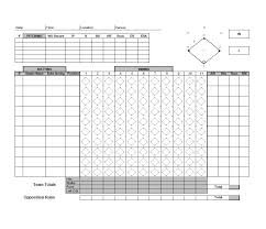 Baseball Hitting Charts Printable 30 Printable Baseball Scoresheet Scorecard Templates