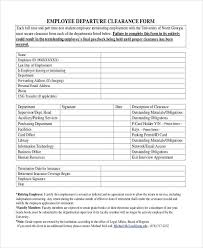 20 Employee Clearance Form Exampleemployee Transfer Form