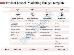 Marketing Budget Template Enchanting Product Launch Marketing Budget Template Ppt Slides Master Slide