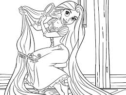 Small Picture Lovely Rapunzel Coloring Page 49 For Download Coloring Pages with