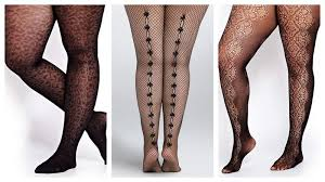 Plus Size Patterned Tights
