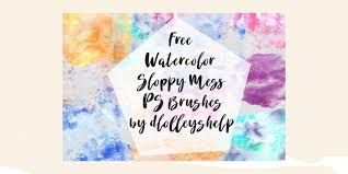 free watercolor brushes illustrator 30 free watercolor photoshop brush sets for designers freepsdhtml