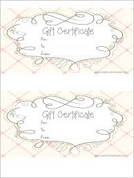 Free Printable Gift Certificate Template Word Create Gift Certificate Template
