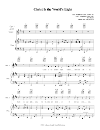 World Of Light Piano Sheet Music Christ Is The Worlds Light