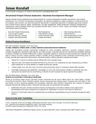 sample finance resume
