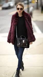 faux fur coat dkny or m s jeans urban outfitters bag philip lim wool blend sweater bottega veneta boots acne