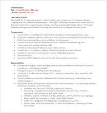 Project Manager Job Description 9 Project Manager Job Description Templates Free