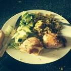 bacon stuffed chicken breast with honey and lemon pepper