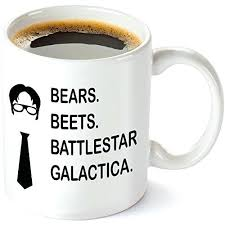 the office coffee mug. The Office Coffee Mug Bears Beets Funny Oz Inspired By Show Quote .