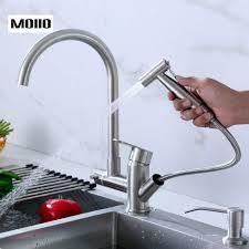 ซื้อที่ไหน <b>Moiio</b> 360 Rotation Swivel <b>Pull Out</b> Kitchen Faucet Hot And ...