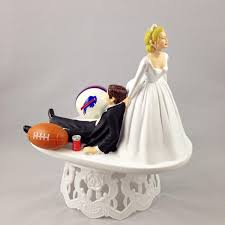 Funny Wedding Cake Topper Football Themed Buffalo Bills Unique And