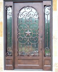 Wrought iron door with Texas star design. - Yelp