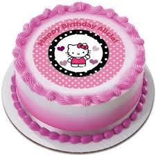 Hello Kitty And Bear Edible Birthday Cake Or Cupcake Topper Edible