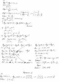 КИМ по алгебре класс Контрольная работа Логарифмические неравенства