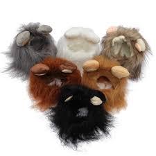S <b>Pet Dog Cat</b> Artificial Lion <b>Mane</b> Wig Halloween Costume ...