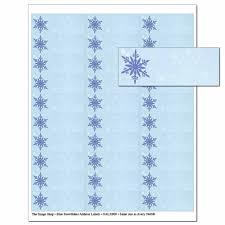Blue Snowflakes Address Labels Holiday Address Labels The
