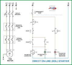 electric motor starter wiring diagram & \