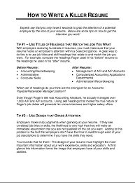 Make Resume Free Magnificent How To Write A Killer Resume Httpresumesdesignhowtowrite