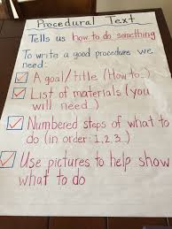 Procedural Text Anchor Chart For My Grade Ones Writing