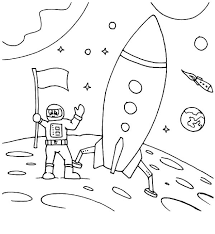 Small Picture Land on Moon Space Travel Coloring Pages Best Place to Color