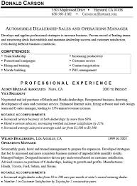 Sample Car Sales Resume