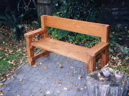outdoor wooden benches back