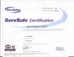 Servsafe Certificate Template The Best And Professional Templates