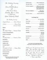 sample wedding ceremony program wedding renewal ceremony programs