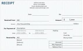 Receipt Word Template Sample Cash Memo Format Definition