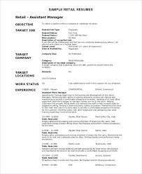 Retail Experience Resume Sample Retail Resume Retail Supervisor ...