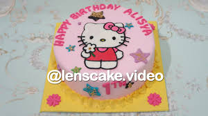 Beautiful How To Make Birthday Cake Hello Kitty Youtube